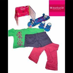 American Girl doll skateboard set Complete in box.